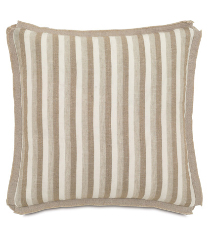 Image of Linum Natural Pillow with Butterfly Pleats