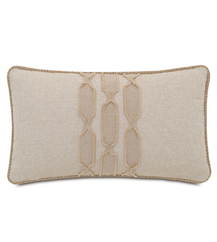 Image of Greer Linen Pillow with Border