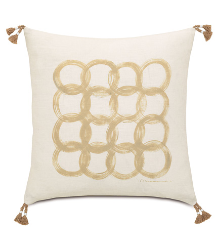 Eastern Accents - Silas Hand-Painted Motif Pillow - SIL-11