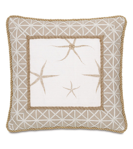 Image of Tybee Natural Mitered Pillow