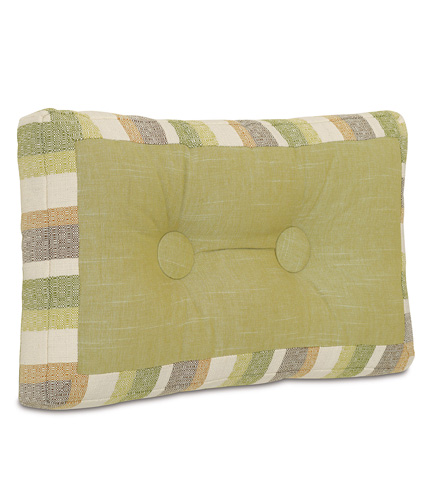 Image of Sago Grass Mitered and Tufted Pillow