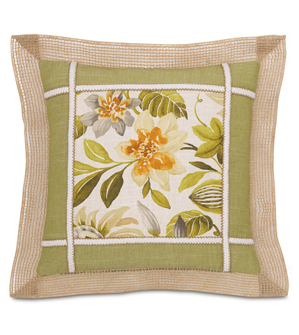 Image of Stelling Palm Pillow with Border