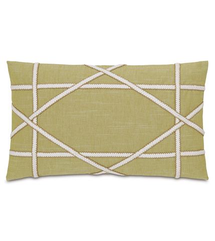 Eastern Accents - Duvall Green Pillow with Gimp - SLG-08