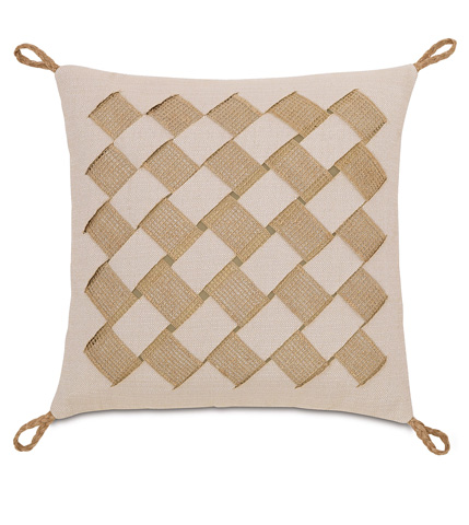 Image of Vivo Bisque Pillow with Basket Weave