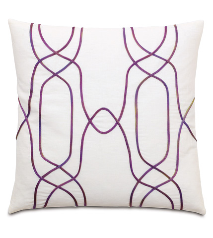 Image of Breeze Shell Pillow with Trellis Design