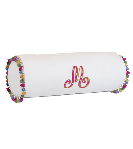 Image of Breeze Shell Pillow with Monogram