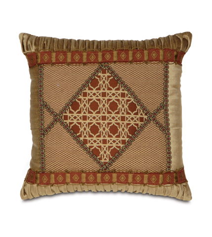 Image of Ravello Spice Diamond Collage Pillow