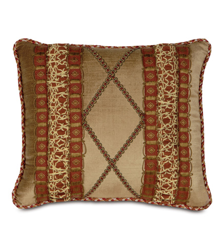Image of Lucerne Gold Pillow with Ruched Inserts