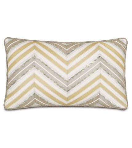 Image of Genevieve Citrine Diagonal Inserts Pillow