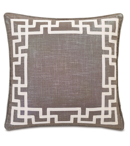 Image of Reflection Taupe Pillow with Ribbon