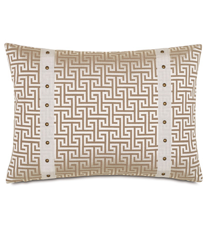Image of Fairley Stone Pillow with Border