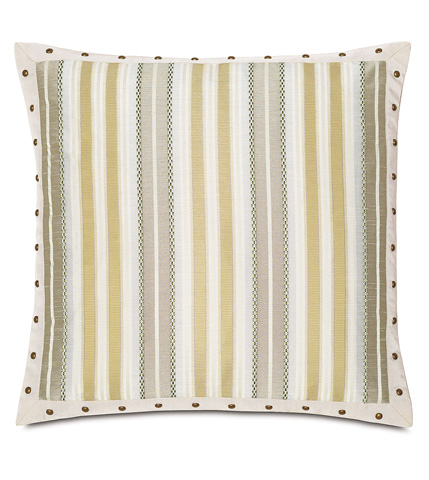 Eastern Accents - Genevieve Citrine Pillow with Border - WAK-09