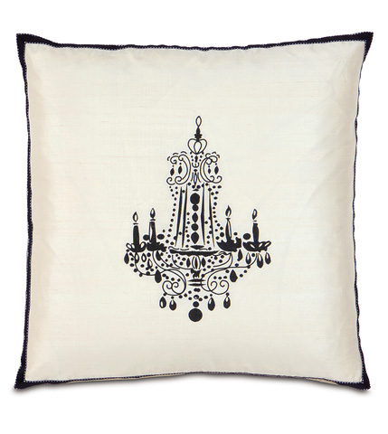 Image of Black Chandelier Pillow