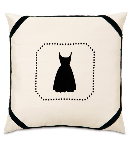 Image of Little Black Dress Pillow