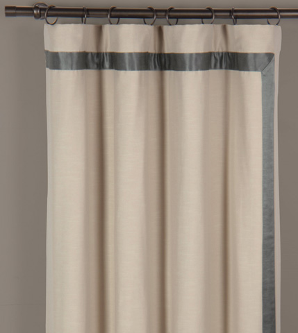 Image of Witcoff Taupe Left Curtain Panel