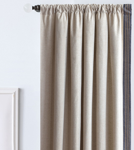 Image of Greer Linen Left Curtain Panel