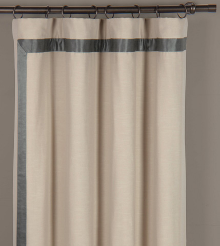 Image of Witcoff Taupe Right Curtain Panel