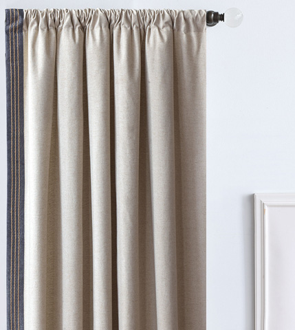 Image of Greer Linen Right Curtain Panel