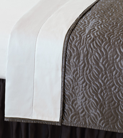 Image of Illiad Smoke Super Queen Coverlet