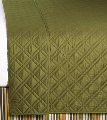 Image of Coperta Pesto Queen Coverlet
