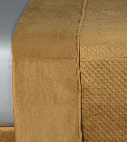 Image of Reuss Gold Queen Coverlet