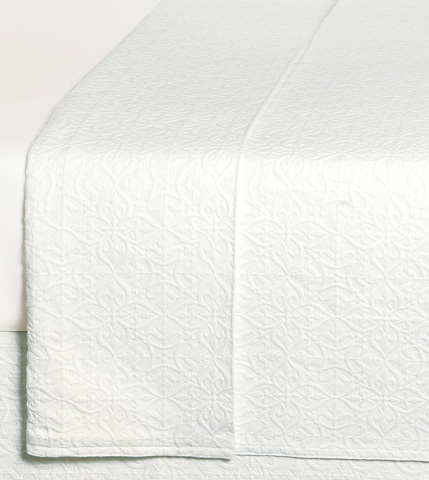 Image of Mea White Queen Coverlet