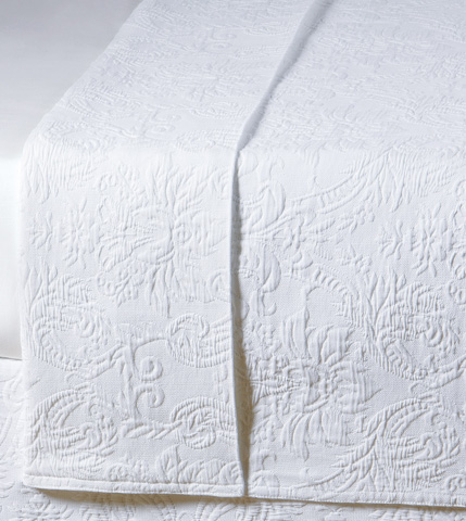 Image of Sandrine White Queen Coverlet