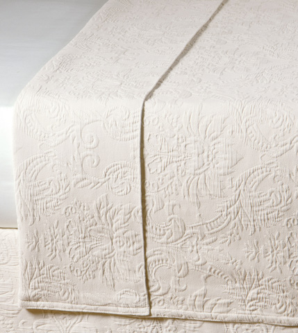 Image of Sandrine Ecru Queen Coverlet