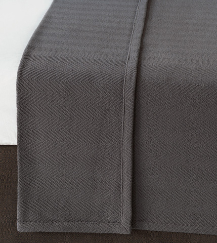 Image of Bozeman Charcoal Queen Coverlet