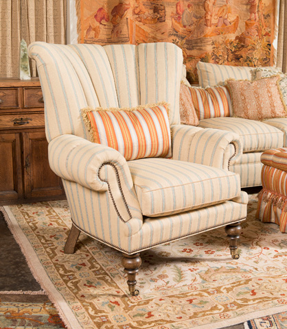 EJ Victor - Berber Kammlah Mr. Loud Wing Chair - 359-40