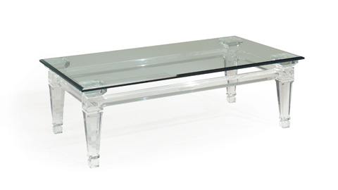 Image of Randall Tysinger Sancerre Acrylic Cocktail Table