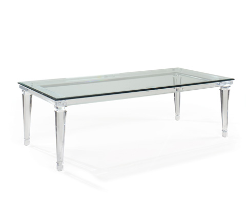 Image of Randall Tysinger Sancerre Acrylic Dining Table
