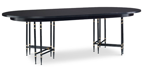 EJ Victor - Morgan Metal Base Dining Table - 6003-20B/6003-20T