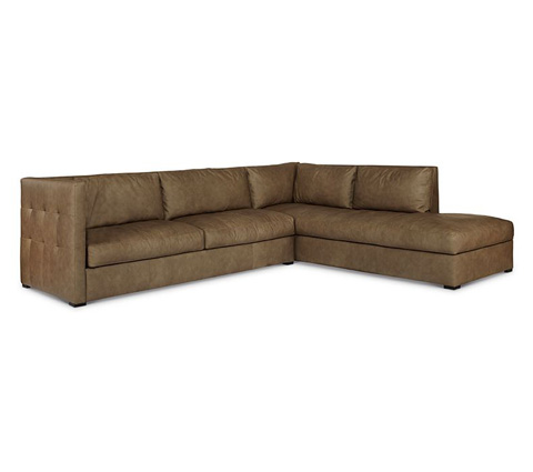 Elite Leather Company - Luxe Sectional - 33034AL-80/33034AR-CH