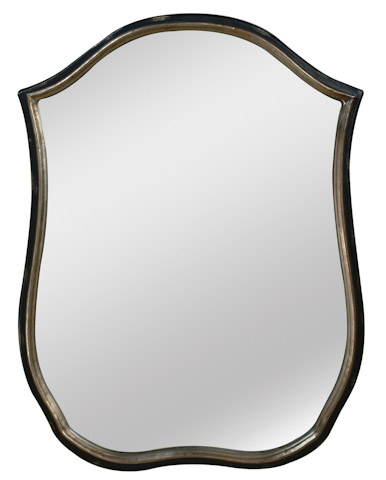 Emerson Bentley - Shield Shape Black Trim Mirror - 28013