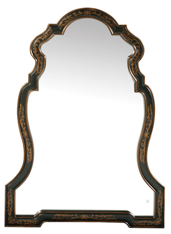 Emerson Bentley - Hand Decorated Chippendale Shaped Mirror - 10003