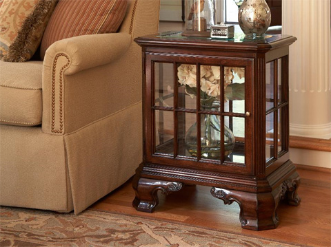 Fine Furniture Design - Manchester Curio Table with Glass Top and Door - 1020-960