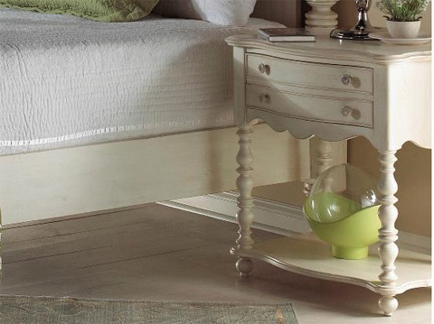 Image of Leg Nightstand with One Drawer