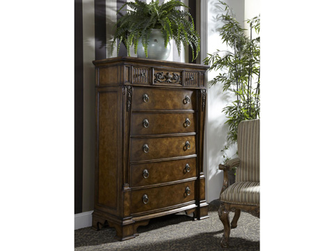 Image of Drawer Chest with Carved Detail