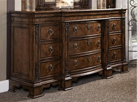 Image of Nine Drawer Triple Dresser