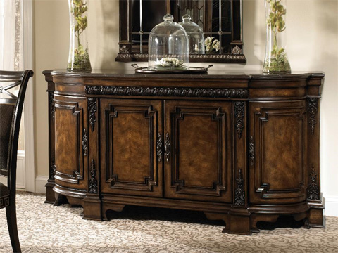Fine Furniture Design - Credenza with Marble Top - 1150-851