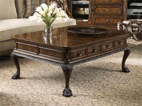 Fine Furniture Design & Marketing - Belvedere Cocktail Table with Two Drawers - 1150-910