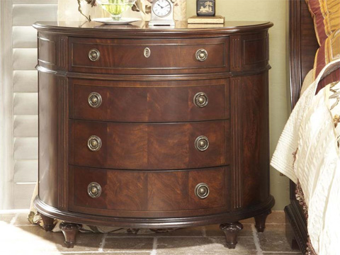 Image of 4 Drawer Demilune Chest