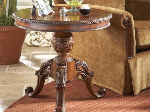 Fine Furniture Design - Round Pedestal End Table - 920-972