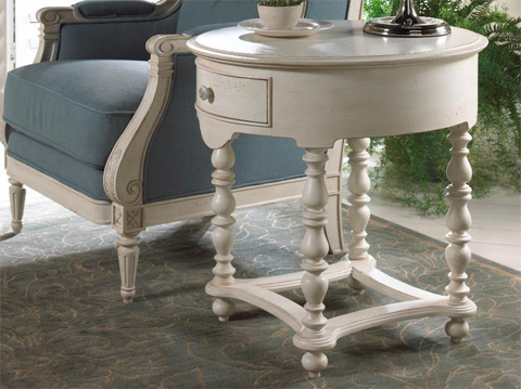 Fine Furniture Design & Marketing - White Summer Home End Table - 1051-964