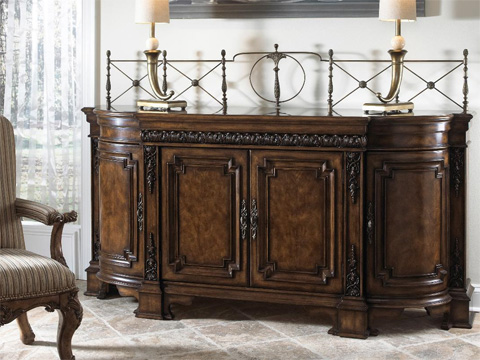 Image of Credenza With Wood Top