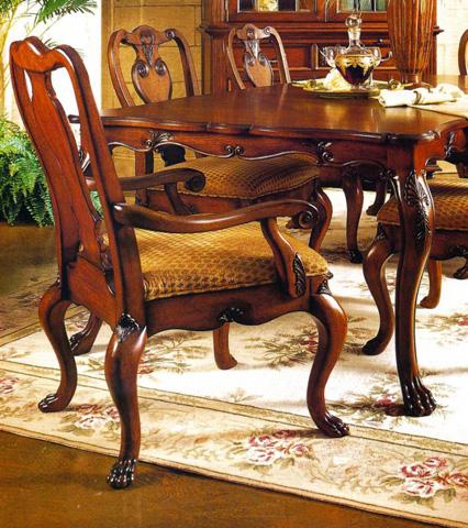 Fine Furniture Design - Hearts of Wine Slat Back Arm Chair - 320-821