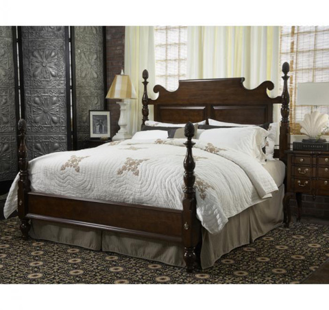 Fine Furniture Design - King Bedford Pineapple Post Bed - 1020-267/268/269