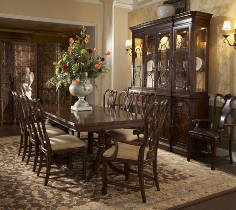Fine Furniture Design - Double Pedestal Dining Table - 1110-818/819
