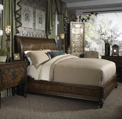 Fine Furniture Design & Marketing - King Sleigh Bed with Footboard - 1150-367/368/369